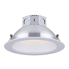 6 inch LED White Stepped Baffle Recessed Round Downlight - ENERGY STAR®