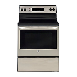 GE 30-inch 5.0 cu. ft. Single Oven Electric Range Oven in Stainless Steel