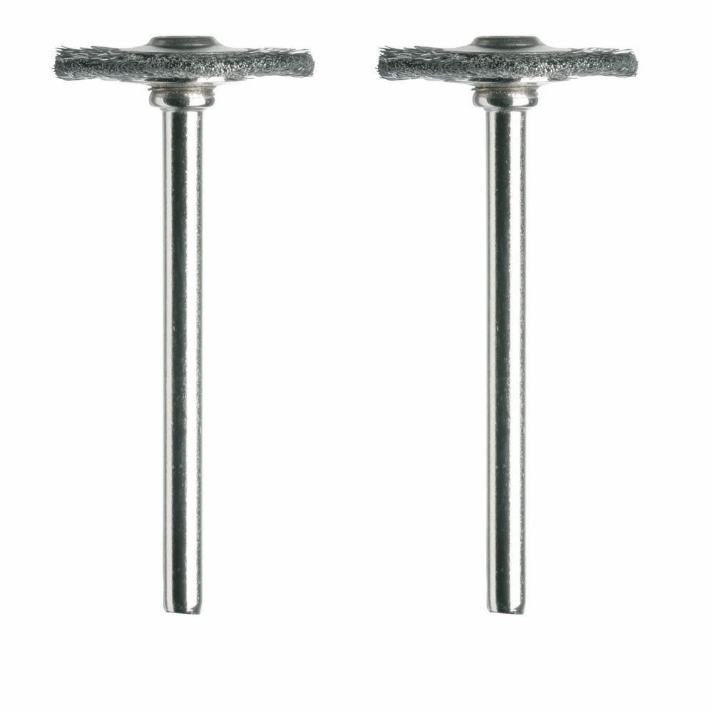 Dremel 3/4 inch Carbon Steel Brushes (2 Pack)