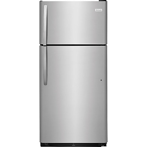 30-inch 18 cu. ft. Top Mount Refrigerator in Stainless Steel