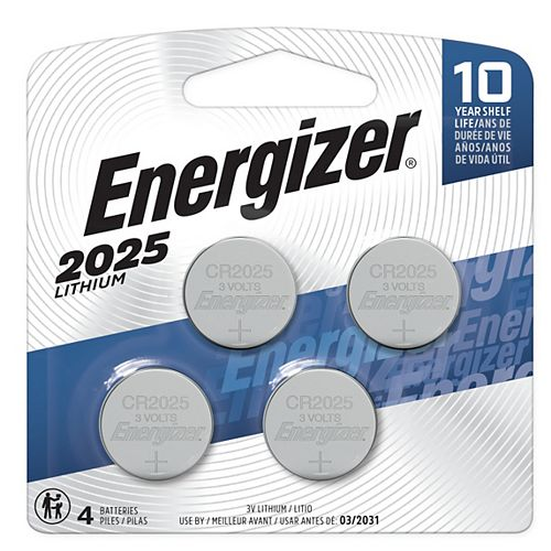 Energizer Energizer 2025 Lithium Coin Battery, 4 Pack