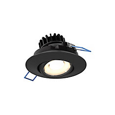 3 inch LED Round Gimbal Recessed Light in Black finish - ENERGY STAR®