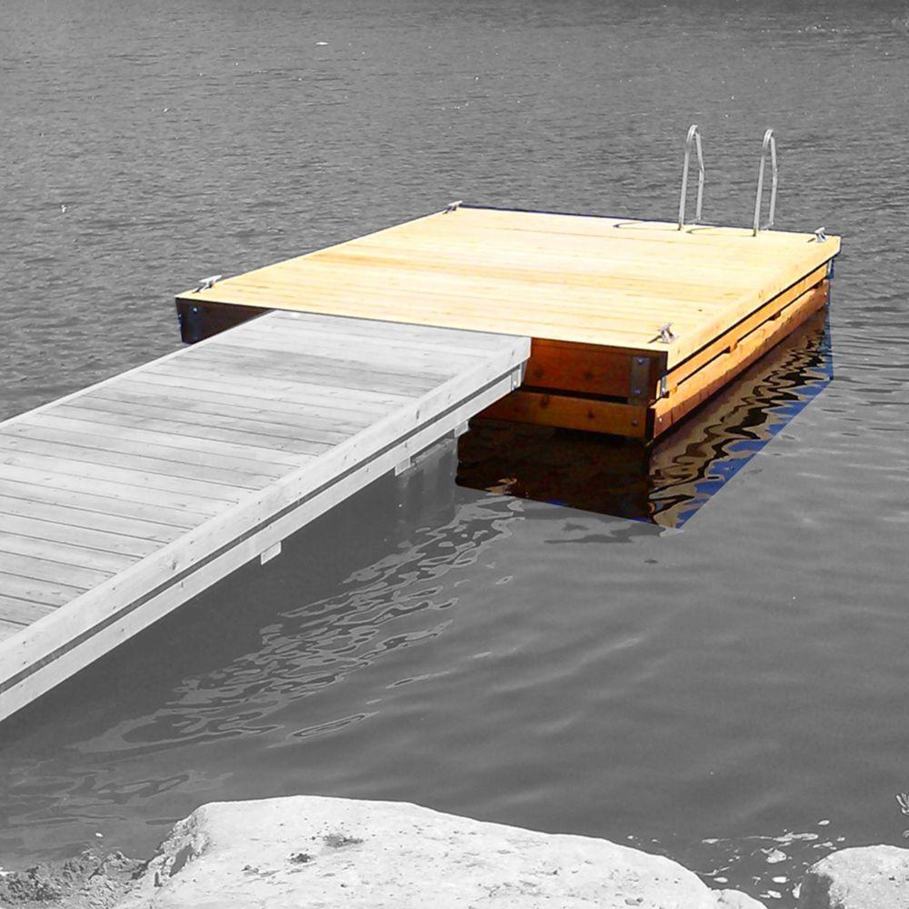 Multinautic High Freeboard Heavy Duty Floating Wood Dock