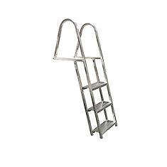 3 Step, angled, Aluminum Dock Ladder