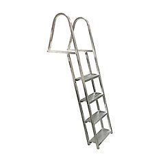 4-Step Angled Aluminum Dock Ladder