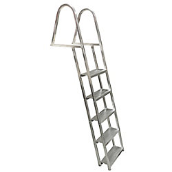 Multinautic 5-Step Angled Aluminum Dock Ladder