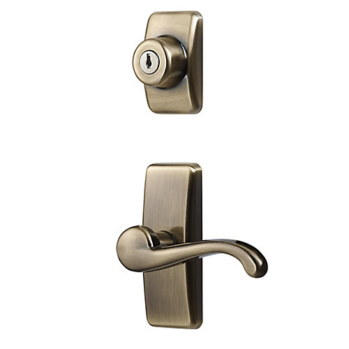 Deluxe Storm & Screen Door Lever Handle & Keyed Deadbolt