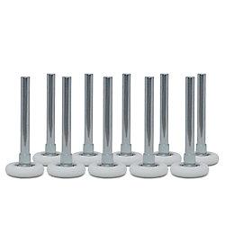 Ideal Security Roulettes pour porte de garage à roulement à billes avec tiges, 2po et 4po, ens. de 10