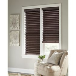 Home Decorators Collection 2.5-inch Cordless Faux Wood Blind Espresso 18-inch x 72-inch (Actual width 17.625-inch)