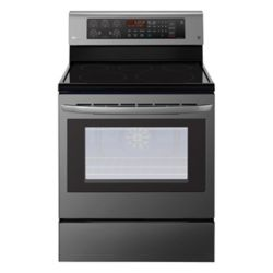 LG Electronics 6.3 cu. ft. Electric Range with EasyClean and True Convection in Black Stainless Steel