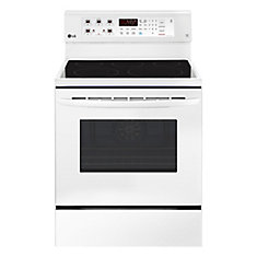 6.3 cu. ft. Electric Range with EasyClean and True Convection in White