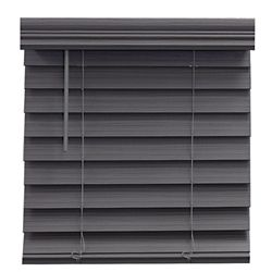 Home Decorators Collection 2.5-inch Cordless Fauxwood Blind White 66-inch x 72-inch