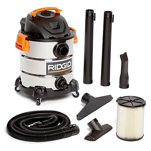 37.5L (10 gal.) 6.0 Peak HP Stainless Steel Wet Dry Vacuum