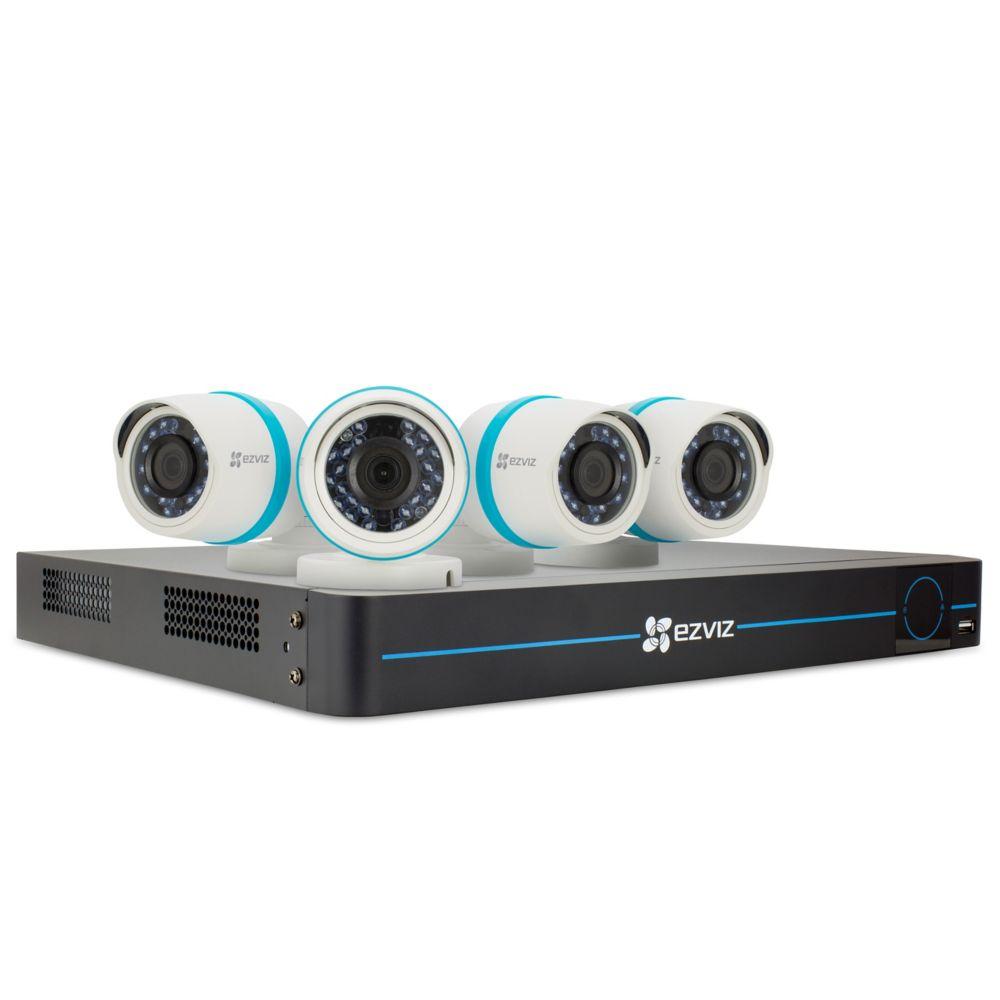 EZVIZ 8-Channel 1080p Surveillance System w/ 4 Bullet Cameras and 2TB NVR