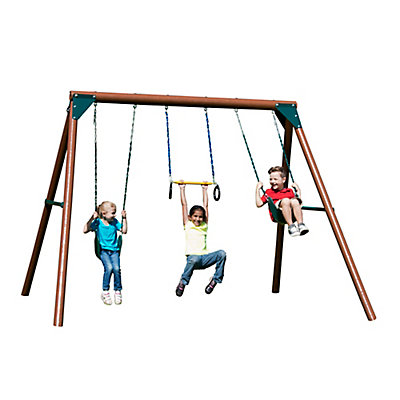 slide n playground complete w swing wood swings detail chesapeake rta set by