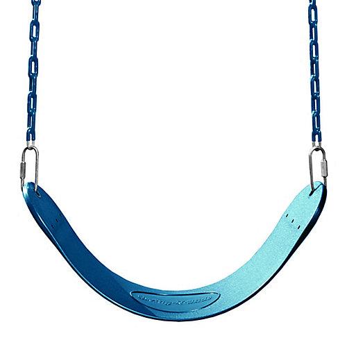 Siège de balançoire pour ensemble de jeux avec chaîne en bleu