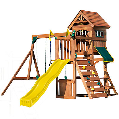 n accessories backyard sets play slide logo swing wood