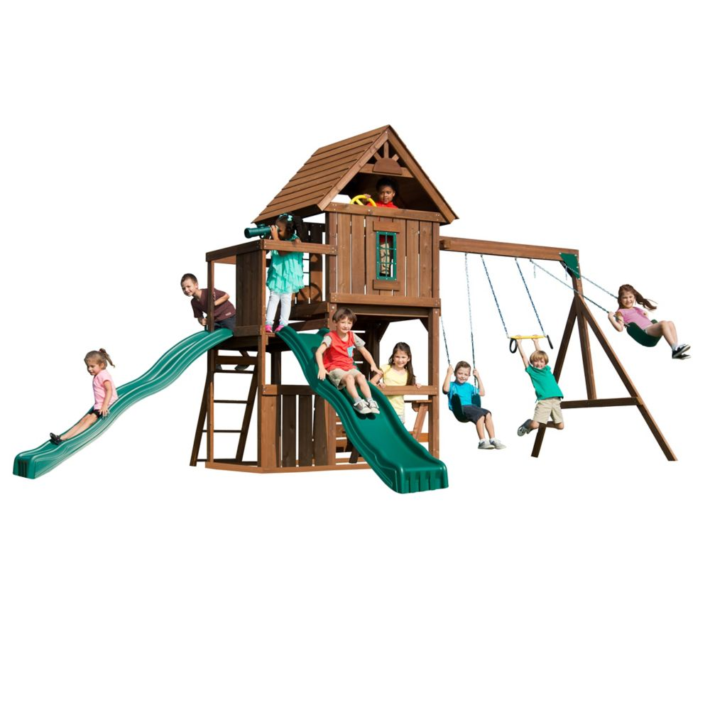 Swing-N-Slide Monteagle Wood Complete Playground Set