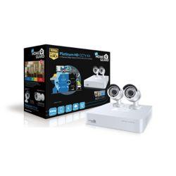 Homeguard Platinum Security System  1080p 4 Channel Hybrid DVR & 2 x HD 1080p Cameras