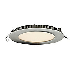 4-inch LED Recessed LED Panel Light with Integrated 3000K,4000K or 5000K Options in Satin Nickel Finish - ENERGY STAR ®