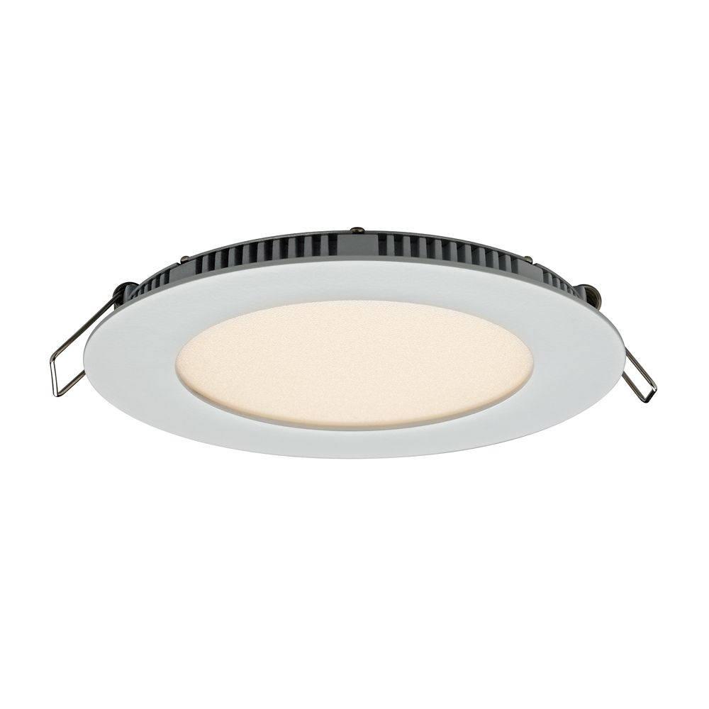 Illume 4-inch Recessed Round LED Panel Light with Integrated color select 3000K 4000K or 5000K White Finish - ENERGY STAR®