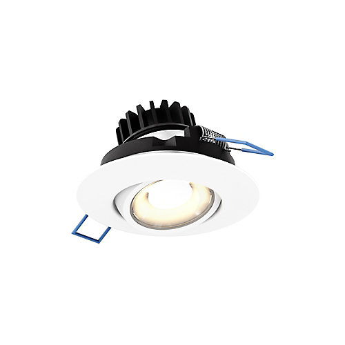 3 inch LED Round Gimbal Recessed Light in White Finish - ENERGY STAR®