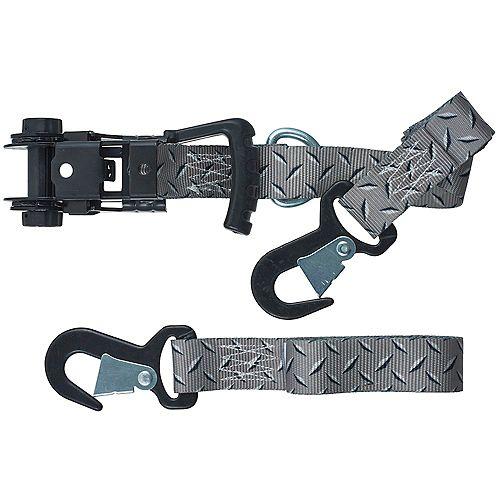 KEEPER Tie-Down,8 ft.x1.25 inch Ergo-Torque Ratchet800WLL 2400BS 2pk