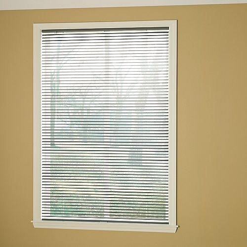 Hampton Bay Cordless 1 3/8-inch Room Darkening Vinyl Cut Blinds Grey 42-inch x 72-inch (Actual width 41.625-in)
