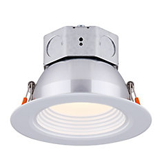 4 inch LED White Stepped Baffle Recessed Round Downlight - ENERGY STAR®