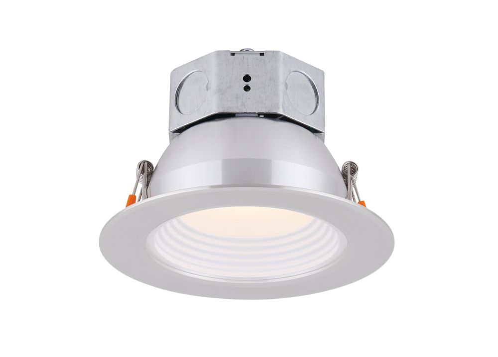 Canarm Ltd 4 inch LED Brushed Nickel Stepped Baffle Recessed Round Downlight - ENERGY STAR®
