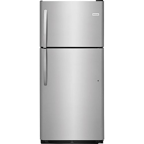 30-inch W 20.4 cu. ft. Top Freezer Refrigerator in Stainless Steel
