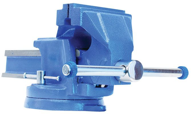 Firm Grip 4-inch Steel Bench Vise with Swivel Base