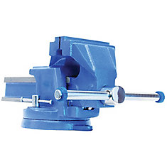 6-inch Steel Bench Vise with Swivel Base