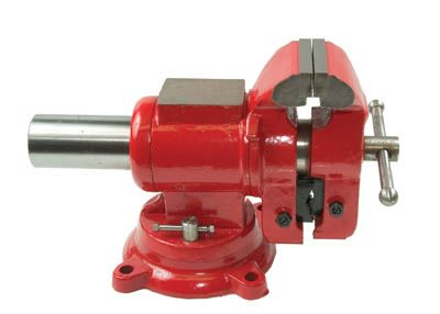 Firm Grip 5 Inch Multi-Purpose Steel Bench Vise with Swivel Base