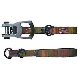 KEEPER Tie-Down,16 ft.x1.25 inch, Woodland,1000 WLL,3000BS Alum Ratchet