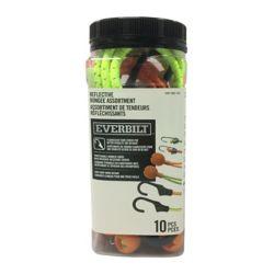 Everbilt 10-Piece Reflective Bungee Assortment