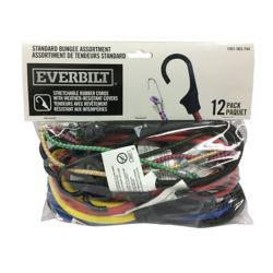 Everbilt Standard Bungee Cord (Assorted 12-Pack)