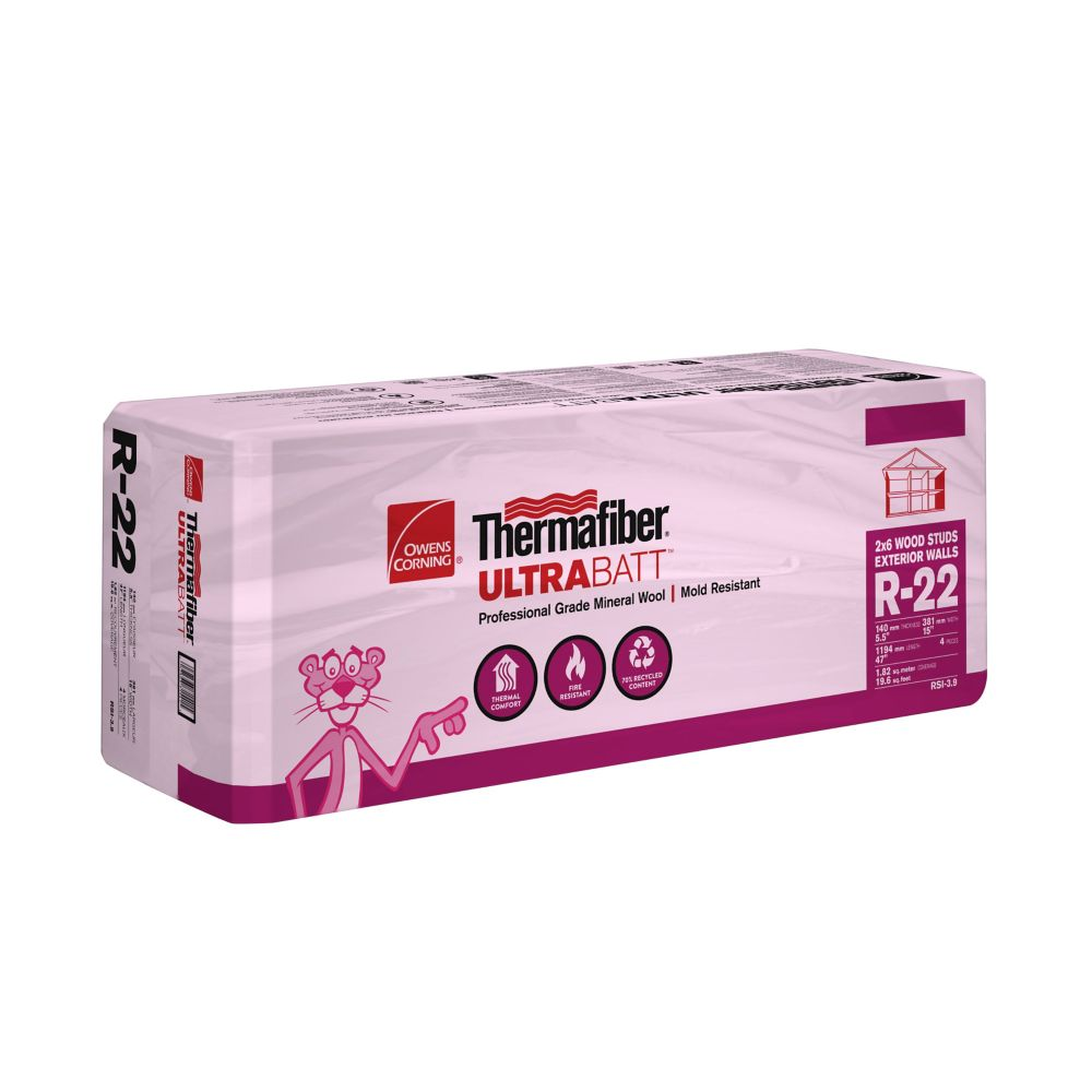 Owens corning ecotouch quietzone pink fiberglas acoustic for Thermafiber insulation prices
