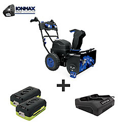 Snow Joe Ion 80V Max 6.0 Ah Cordless Self-Propelled (Two-Stage) Snowblower W/ Dual Port Charger