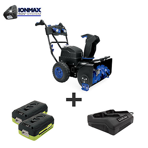Ion 80V Max 6.0 Ah Cordless Self-Propelled (Two-Stage) Snow Blower W/ Dual Port Charger