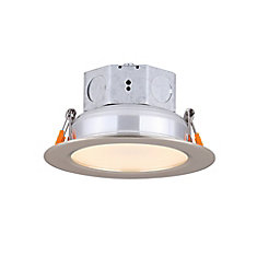4 inch LED Brushed Nickel Recessed Round Downlight - ENERGY STAR®