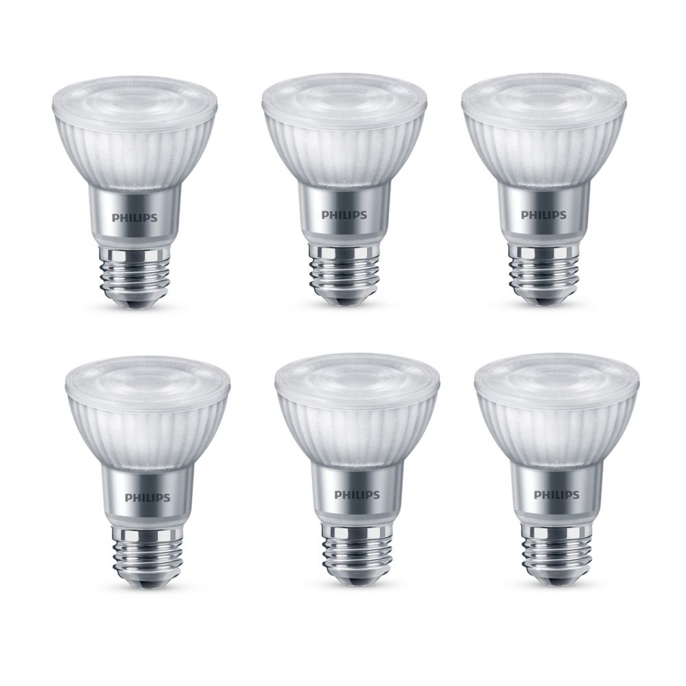 Philips 50W Equivalent Soft White WarmGlow PAR20 Dimmable LED Light Bulb (3-Pack) - ENERGY STAR®