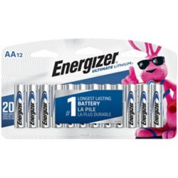 Energizer Energizer Ultimate Lithium AA Batteries, 12 Pack