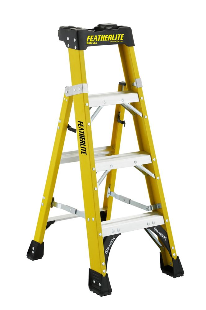 4  Feet fibreglass Cross Step Ladder with 300 lb. Load Capacity Type IA Duty Rating
