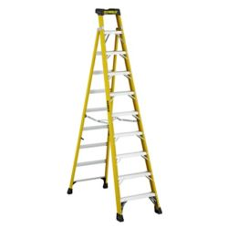 Featherlite 10  Feet fibreglass Cross Step Ladder with 300 lb. Load Capacity Type IA Duty Rating