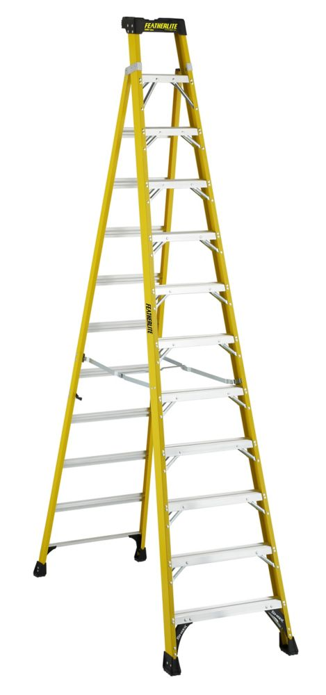Featherlite 12 Feet fibreglass Cross Step Ladder FXS6912