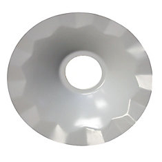 Metal Pendant Light Shade White - 7.5 inch