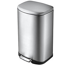 35L Stainless Steel Step Trash Can