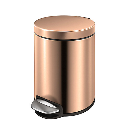 5L Rose Gold Stainless Steel Step Trash Can