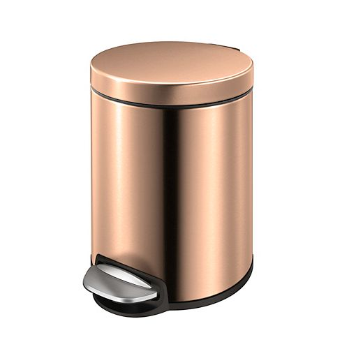 HDX 5L Rose Gold Stainless Steel Step Trash Can